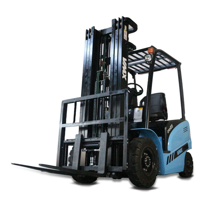 Large Electric Warehouse Forklift Sit Down Forklift Lifting Equipment Blue