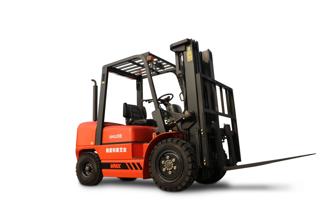 Vmax 3.5 Tons CPCD35 Diesel Powered Forklift 1070mm Fork Length 125mm Fork Width