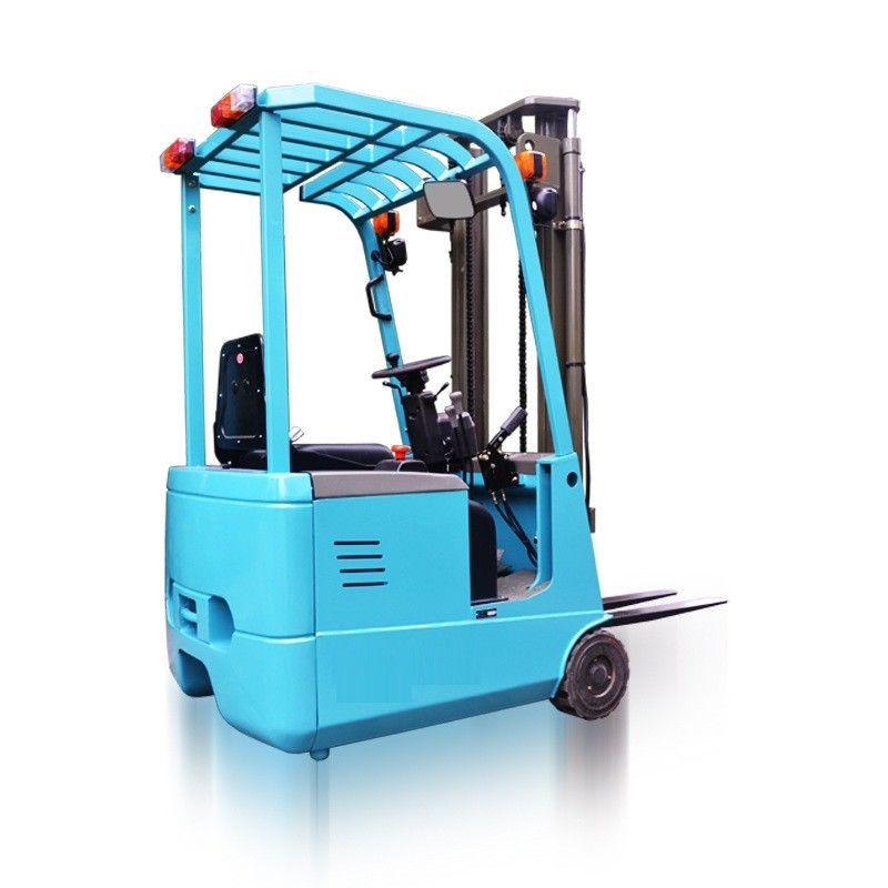 AC Motor Three Wheel Electric Forklift 1000kg Rated Loading Capacity New Condition