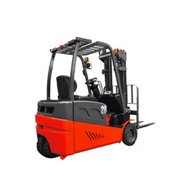 Red Three Wheel Electric Forklift Electric Windy do magazynu, CE Approval
